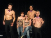 Me and Lisa at the Comic Strippers