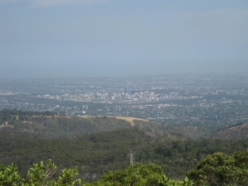 The view of Adelaide from Mt Lofty