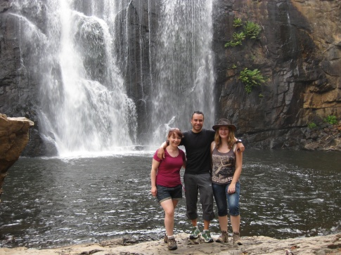 Daniel, Lisa and me at McKenzie falls