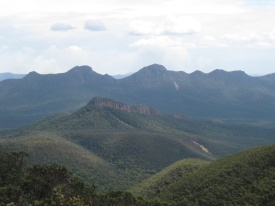 The peaks of the Grampians