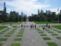 The view of Melbourne from the Shrine of Remembrance
