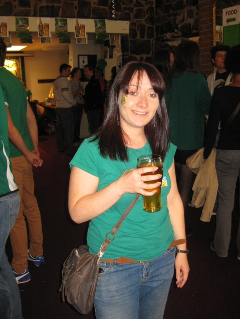 Me happy with a pint on Paddy's day