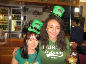 Me and Steph getting into the spirit of things!
