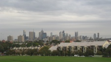 The view of Melbourne from Yarra Bend Park