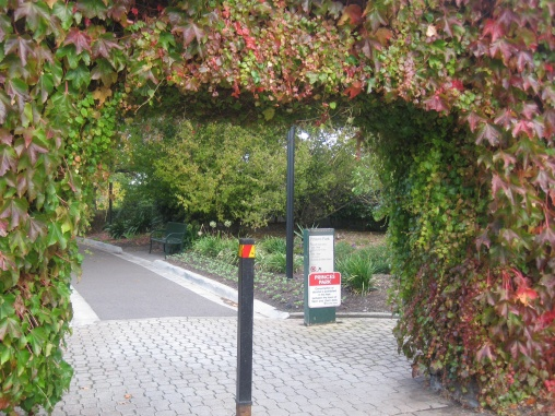 The entrance to Princes Park