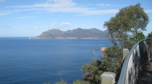 Looking back on Wineglass Bay