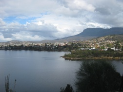 The view of Hobart from Mona