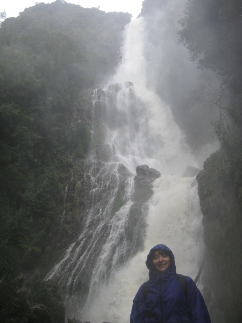 Up close and getting soaked at Montezumo Falls