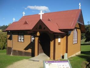 A restored church at Port Arthur