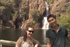 Me and Go at Wangi Waterfalls
