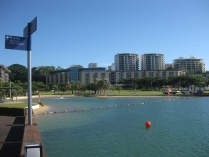 Looking back on Darwin from the wharf
