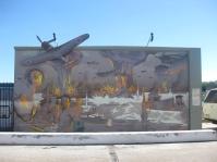 A wall symbolising Darwin's history