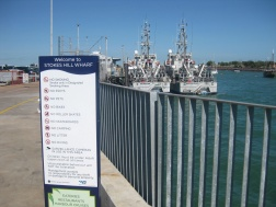 Boats at Stokes Hill Wharf