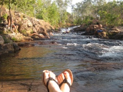 Feet at the waterfalls!