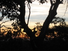 The beginnings of sunset