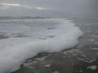 Soap on the beach!