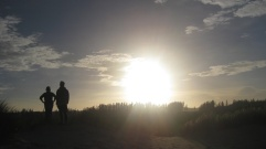 Me and Yo watching the sunrise