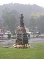 Queenstown's War Memorial on Anzac Day