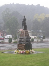 Queenstown's War Memorial on Anzac Day