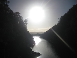 Cataract Gorge at sunrise