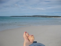 Feet at Bay of Fires