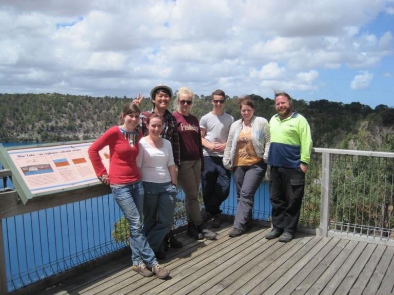 Group photo time at Blue Lake
