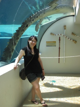 Me and a crocodile