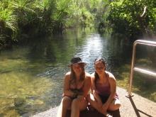 Me and Lisa after swimming this very channel