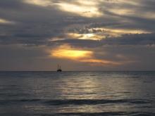 Boats by sunset at Mindil