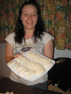 Happy with dumplings