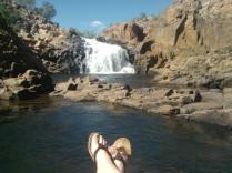Feet at Edith Falls