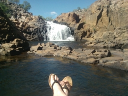 Feet at Edith Falls