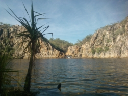 Time for a swim at Edith falls lower falls