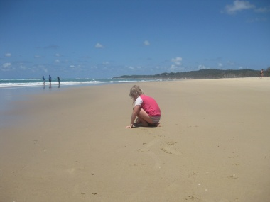 A child on Stradbroke Island