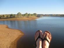 Feet at Lake Mary Ann
