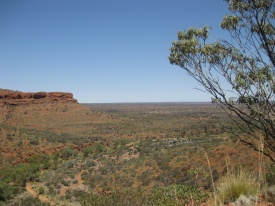 Quite a view over the outback!