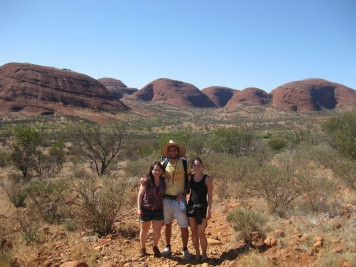 Scotland, France and Russia at Kata Tjuta