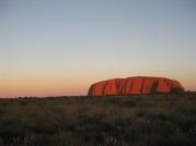 A red Uluru by sunset