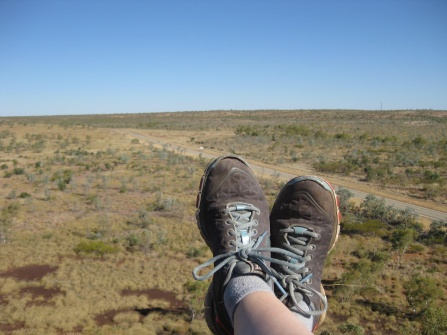 Feet in the outback