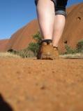 My feet walking the base