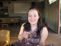 Me happy on my birthday with wine in hand :-)