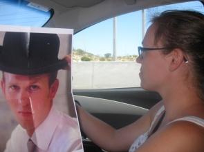 George helping Sarah drive
