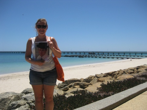 Sarah and George at Busselton jetty