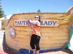 George and a 'nauti' lady