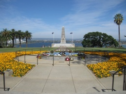 The view from Kings Park War Memorial