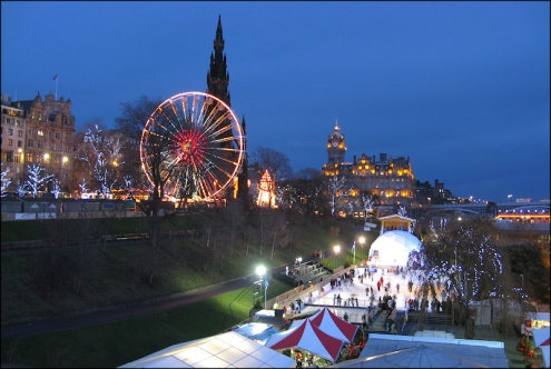 Edinburgh at Christmas Time