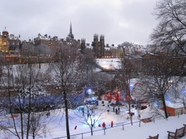 A snowy covered Edinburgh