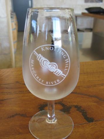 A wine tasting glass