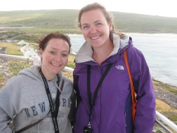 Me and Sarah up Cape Leeuin lighthouse