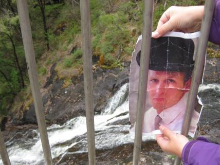 Behind bars at Beedlup Falls